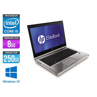 HP EliteBook 8460P - i5 - 8Go - 250Go HDD - Windows 10