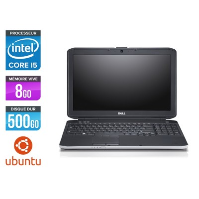 Pc portable reconditionné - Dell Latitude E5530 - i5 3320M -  8Go - 500 Go HDD - 15.6'' HD - Ubuntu / Linux