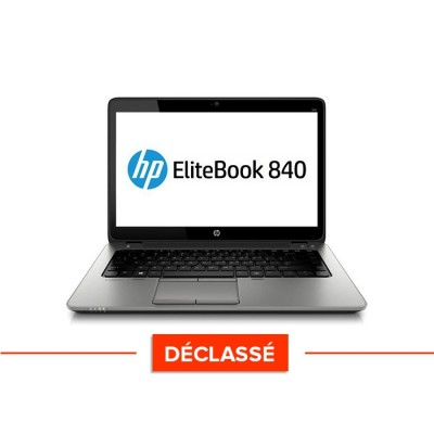 Pc portable - HP Elitebook 840 - i5 4300U - 8Go - 120 Go SSD - Windows 10 - Trade discount - Déclassé