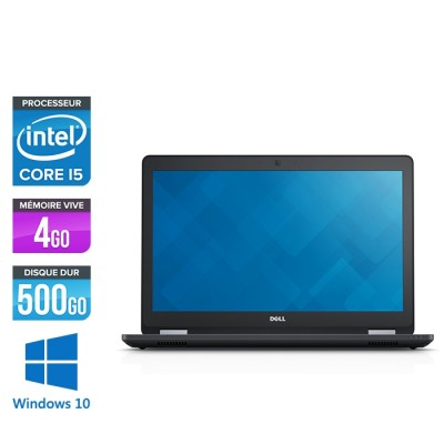 Pc portable reconditionné - Dell latitude E5570 - i5 - 4 Go - 500 Go HDD - Webcam - Windows 10