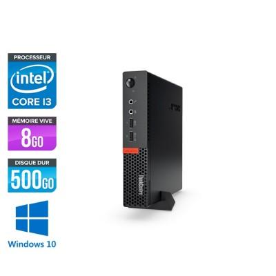 Lenovo M910Q USFF - i3 - 8 Go - 500 Go HDD - Windows 10