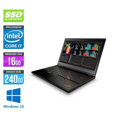 Lenovo ThinkPad P50 -  i7 - 16Go - 240Go SSD - Nvidia M1000M - Windows 10