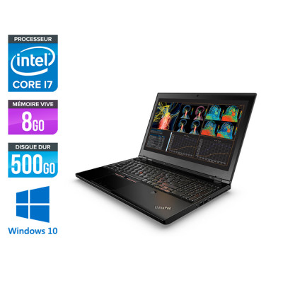 Lenovo ThinkPad P50 -  i7 - 8Go - 500Go HDD - Nvidia M1000M - Windows 10