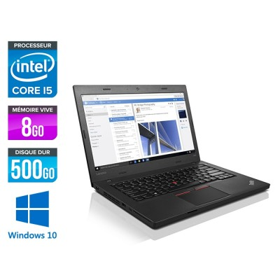 Ordinateur portable reconditionné - Lenovo ThinkPad L460 - i5 - 8Go - 500Go HDD - Windows 10