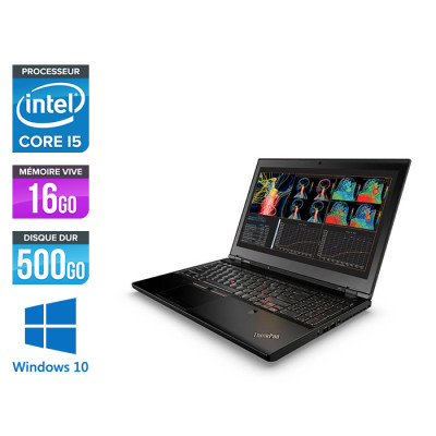 Lenovo ThinkPad P50 -  i7 - 16Go - 500Go HDD - Nvidia M1000M - Windows 10