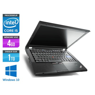 Lenovo ThinkPad T420 - i5 - 4Go - 1To HDD - Windows 10 Professionnel