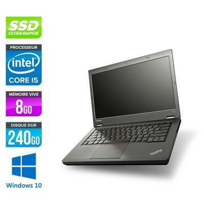 Lenovo ThinkPad T440P - i5 - 8Go - 240Go SSD - Windows 10