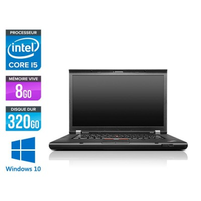 Ordinateur portable reconditionné -  Lenovo ThinkPad W530 - Core i5 - 8 Go - 320 Go HDD - Nvidia K1000M - Windows 10