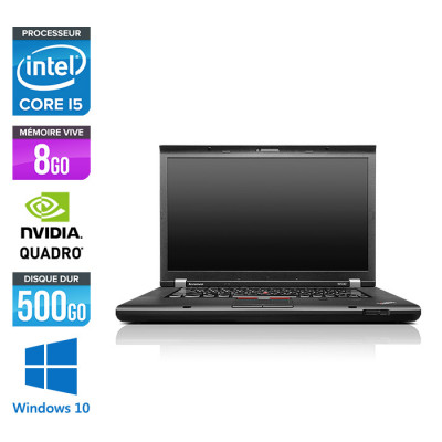 Lenovo ThinkPad W530 - Core i5 - 8Go - 500Go HDD - Nvidia K1000M - Windows 10