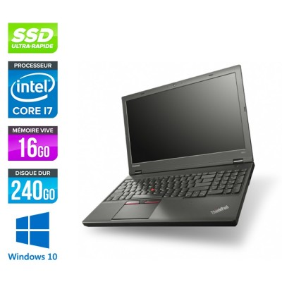 Lenovo ThinkPad W541 -  i7 - 16Go - 240Go SSD - Nvidia K2100M - Windows 10