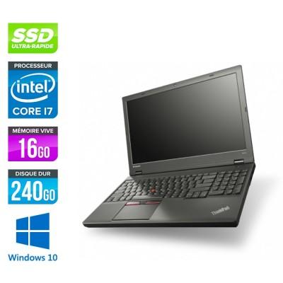 Lenovo ThinkPad W541 -  i7 - 16Go - 240Go SSD - Nvidia K2100M - Windows 10
