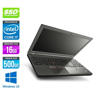 Station de travail reconditionné - Lenovo ThinkPad W541 - i7 - 16Go - 500Go SSD - Nvidia K2100M - Windows 10