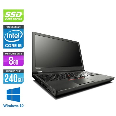 Lenovo ThinkPad W541 -  i5 - 8Go - 240Go SSD - Nvidia K1100M - Windows 10