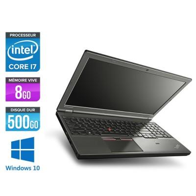 Station de travail reconditionné - Lenovo ThinkPad W541 - i7 - 8Go - 500Go HDD - Nvidia K1100M - Windows 10