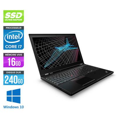Lenovo ThinkPad P51 -  i7 - 16Go - 240Go SSD - Nvidia M2200 - Windows 10
