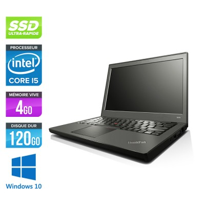 Lenovo ThinkPad X240 - i5 4300U - 8 Go - 120 Go SSD - Windows 10 - Home