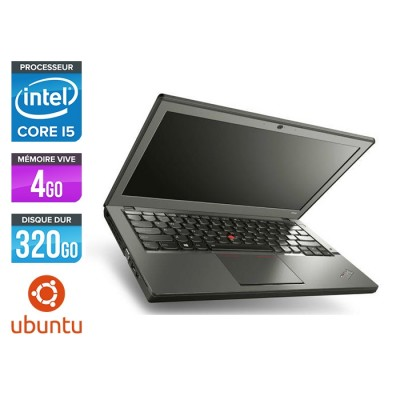 Ordinateur portable reconditionné - Lenovo ThinkPad X240 - i5 4300U - 4 Go - 320 Go HDD - Linux