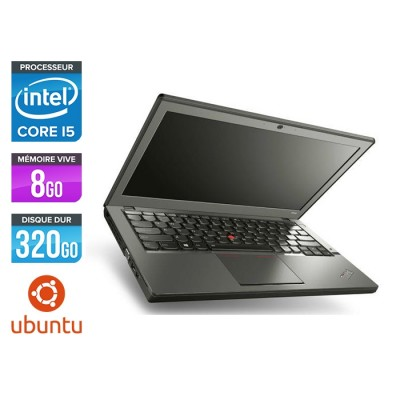 Ordinateur portable reconditionné - Lenovo ThinkPad X240 - i5 4300U - 8 Go - 320 Go HDD - Linux
