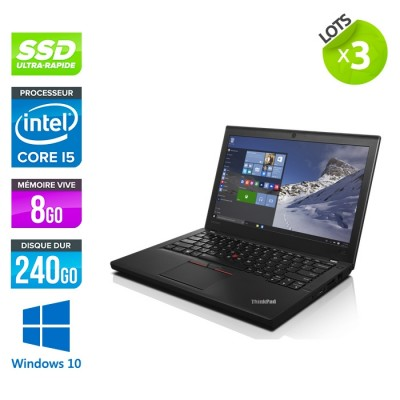 Lot 3 Lenovo ThinkPad X260 - i5 - 8 Go - 240 Go SSD - Windows 10
