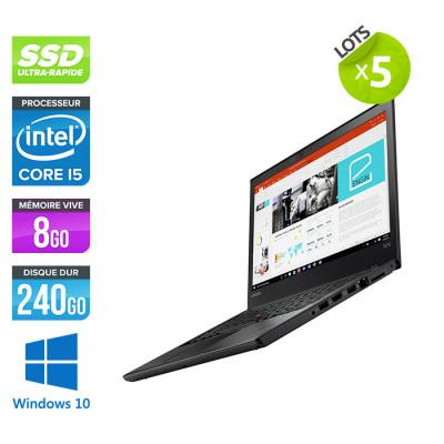 Lot de 5 Lenovo ThinkPad T470 - i5 - 8Go - 240Go SSD - Windows 10