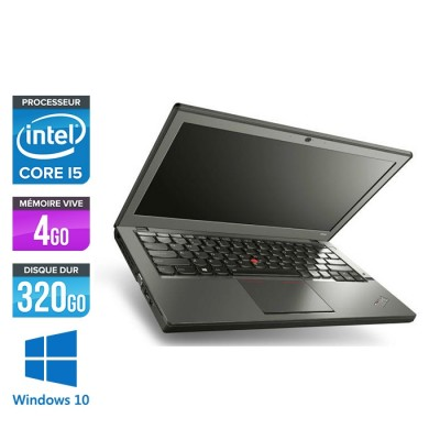Ordinateur portable reconditionné - Lenovo ThinkPad X240 - i5 4300U - 4 Go - 320 Go HDD - Windows 10