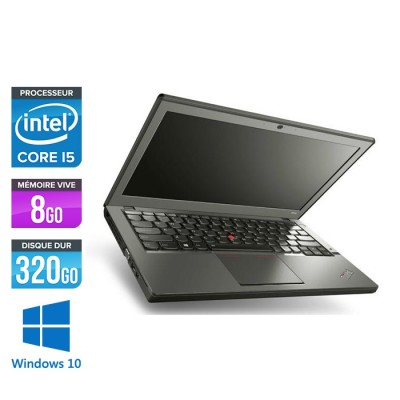 Ordinateur portable reconditionné - Lenovo ThinkPad X240 - i5 4300U - 8 Go - 320 Go HDD - Windows 10