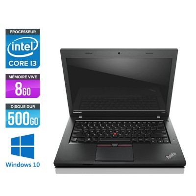 Lenovo ThinkPad L450 - i3 - 8Go - 500Go HDD - webcam - Windows 10