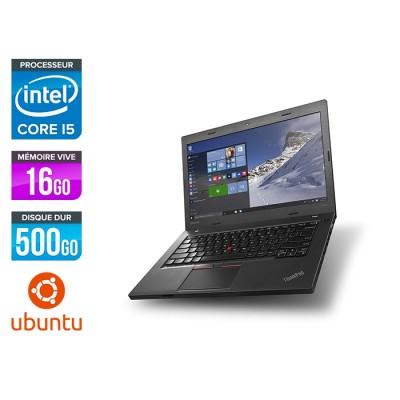 Ordinateur portable reconditionné - Lenovo ThinkPad L460 - i5 - 16Go - 500Go HDD - Linux