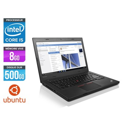 Ordinateur portable reconditionné - Lenovo ThinkPad L460 - i5 - 8Go - 500Go HDD - Ubuntu / Linux