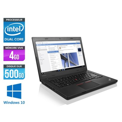 Ordinateur portable reconditionné - Lenovo ThinkPad L460 - 4405U - 4Go - 500Go HDD - Windows 10