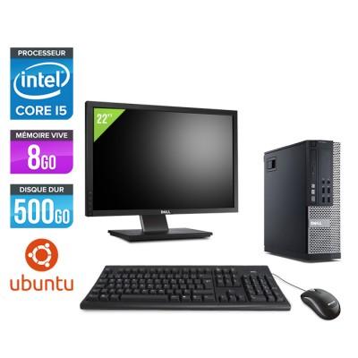 Dell Optiplex 7010 SFF + Ecran 22'' - i5 - 8Go - 500Go - Linux