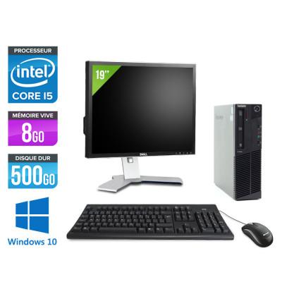 Pack Lenovo M83 SFF + Ecran 19 pouces - i5 - 8 Go - 500Go HDD - Windows 10