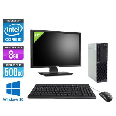Pack Lenovo M83 SFF + Ecran 22 pouces - i5 - 8 Go - 500Go HDD - Windows 10
