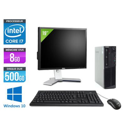 Pack Lenovo M83 SFF - i7 - 8Go - 500Go HDD - Ecran 19 pouces - Windows 10