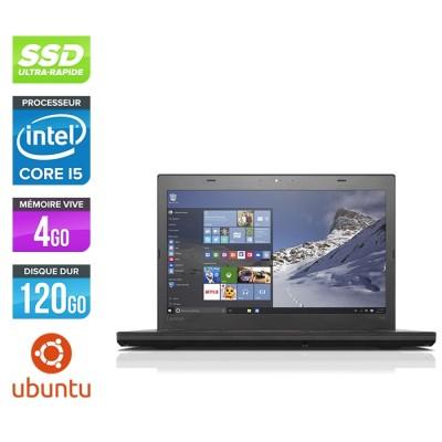 Lenovo ThinkPad T460 - i5 6300U - 4Go - SSD 120Go - HD - Linux
