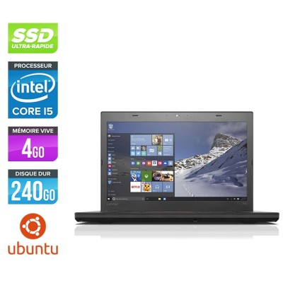 vo ThinkPad T460 - i5 6300U - 4Go - SSD 240Go - FHD - Linux