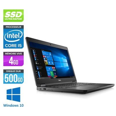 Pc portable - Dell Latitude 5480 reconditionné - i5 6300U - 4Go DDR4 - 500 Go SSD - Windows 10