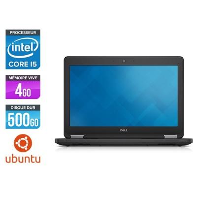 Ordinateur portable - Dell Latitude E5250 reconditionné - intel core i5 - 4Go - 500Go HDD - Linux