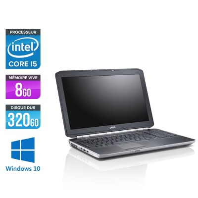 Pc portable - Dell Latitude E5520 reconditionné - Core i5 - 8Go - 320Go HDD - Win10
