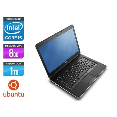 Ordinateur portable reconditionné - Dell Latitude E6440 - i5 - 8Go - 1To HDD - Webcam - Ubuntu / Linux