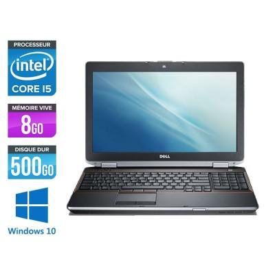 Pc portable - Dell Latitude E6520 reconditionné - Core i5 - 8Go - 500Go HDD - Windows 10