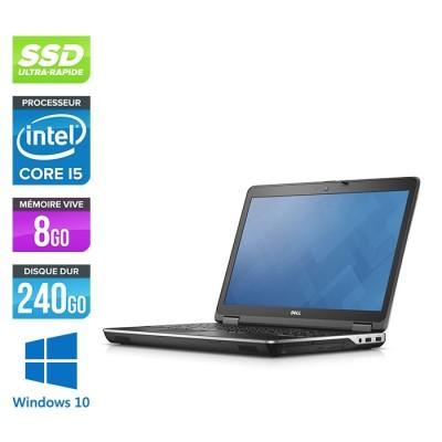 Ordinateur portable reconditionné - Dell E6540 - 15.6 HD - i5 - 8Go - SSD 240Go - Windows 10
