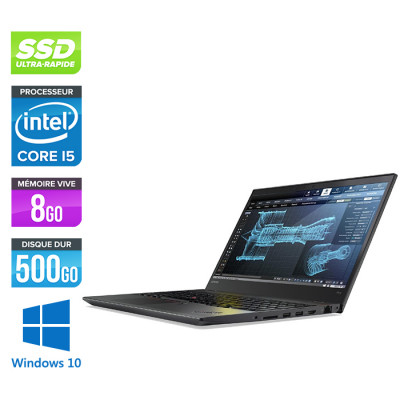 Lenovo ThinkPad P51S - Pc portable reconditionné -  i5 - 8Go - 500Go SSD - Nvidia M520 - Windows 10