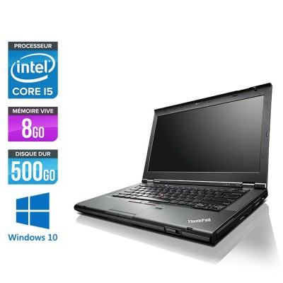 Pc portable reconditionné - Lenovo ThinkPad T430 - i5 - 8Go - 500Go HDD - Windows 10