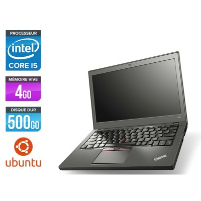 Pc portable pro reconditionné - Lenovo ThinkPad X250 - i5 5300U - 4Go - 500 Go HDD - Linux