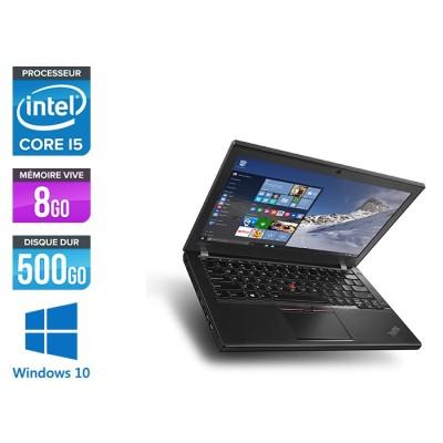 Pc portable pro reconditionné - Lenovo ThinkPad X260 - i5 6300U - 8Go - 500 Go HDD - Windows 10
