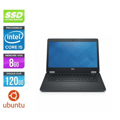 Dell Latitude E5470 - i5 6200U - 8Go DDR4 - 120 Go SSD - Linux
