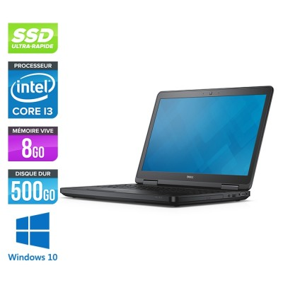 Pc portable reconditionné - Dell Latitude E5540 - i3 - 8Go - 500Go HDD - Windows 10 Professionnel