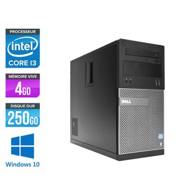 Pc de bureau reconditionné Dell 3010 Tour - i3 - 4Go - 250Go HDD - Windows 10
