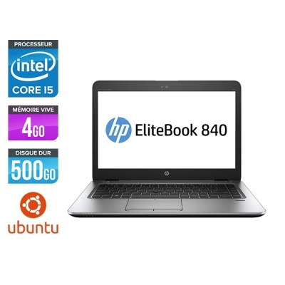 HP Elitebook 840 - i5 4300U - 4 Go - 500Go HDD - 14'' HD - Ubuntu / Linux